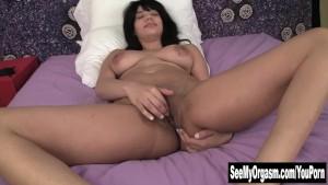 Busty Jiselle Masturbating Her Dark Pussy