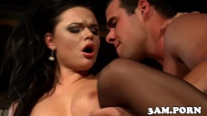 Frenchmaid hooker cockriding in stockings