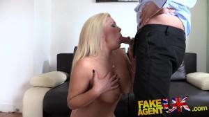 FakeAgentUK Sexy blonde MILF g