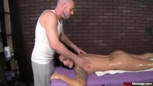 Hot Client Turns On As His Hands Run Across Her Body