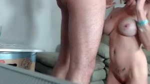 Dp with buttplug and facefucking