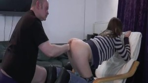 Fat old pervert fisting skinny