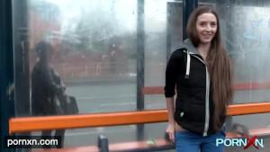 British skinny Leyla flashing in London