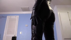 Financially dominating YOU in my leather catsuit and latex boots