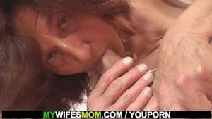 She finds old mother in law rides her man s cock
