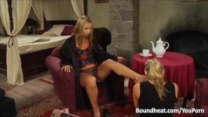 Lesbian Slave In Foot Fetish Action