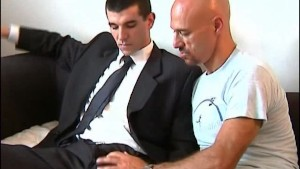 Full video: A innocent str8 vendor serviced his big cock by a guy!