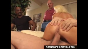 Blonde Housewife fucks porn st