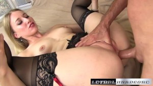 Riley stretches her ass out to take a big cock