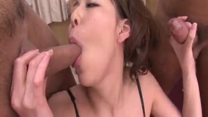 Akari Asagiri, Asian milf in heats, anal fucked on cam