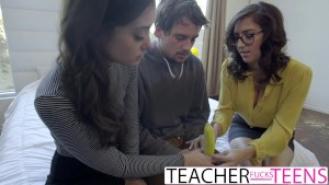 Sex Ed FFM Fuck For Big Tit Teacher And Students