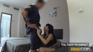 Fake Cop British policeman gets anal sex in a Spanish hotel