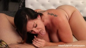 Alison Tyler gives a hot blowj
