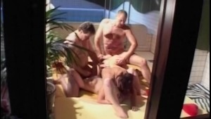 Sauna Group Fuck With Two Horn