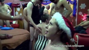 amateur in santa hat takes jizz over her – Free Porn Video