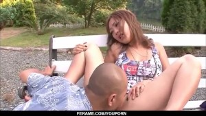 Top rated outdoor Asian porn a