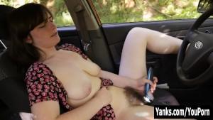 Hottie Raven Vibrates Her Twat