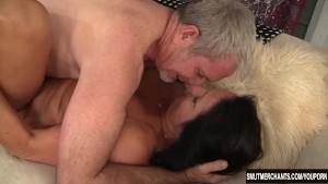 Big dicked older man fucks mature woman