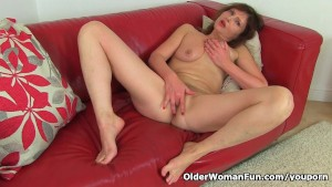 German milf Kristine Von Saar needs to pleasure her cunt