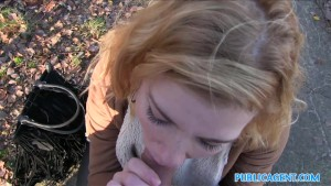 Public Agent Hot Lost blonde sucks stranger's cock for cash
