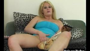 Horny Blonde Trisha Toying Her Pussy