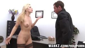 WANKZ- Joey Gets A Crack At Boss Ashley Fires Crack