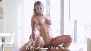 PORNPROS Brunette Kendall Kayden fucked and facialed after massage