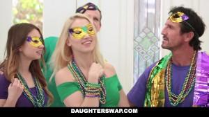 DaugherSwap - Hot Teens Fuck Dads During Mardis-Gras