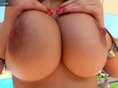 Busty Seline Benazir gets horny and fucks herself