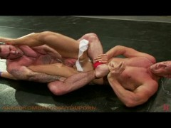 Muscle studs wrestle for fuck!