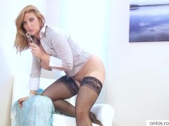 Leona Lee Masturbates Her Mature Pussy