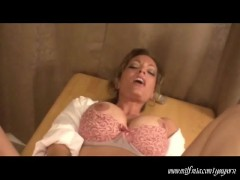 Blonde MILF gets wet and messy