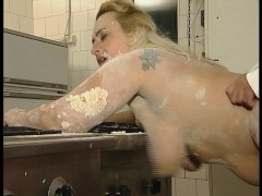 Put some flour on me and fuck the wet spot (clip)