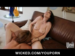 Smoking hot lesbians lick & fuck their pussies bef