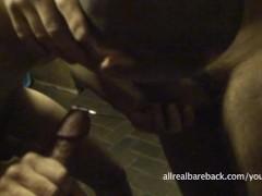 Bareback-Threesome in Underground Sexclub
