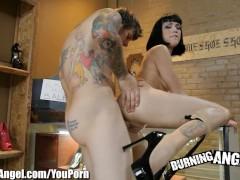 Burning Angel High Heels Fetish Fucking With Hot Goth Girl