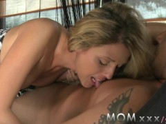 MOM Skinny mature woman orgasms on his cock