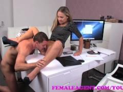 FemaleAgent Smoking hot new female agent seduces stud