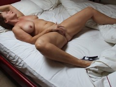 Wife at home fingering herself