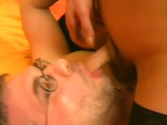 Shemale fucks older guy's face - Pandemonium