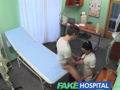 FakeHospital Nurse fucks patient to get a sperm sample