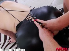AnalAcrobats Lesbian Strapon Goes Ass to Mouth