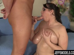 Angel Deluca is oiled up and fucked
