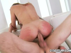 Ariana Marie and her wet little pussy tries on a big, hard cock