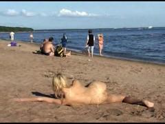Young nudist beach teen