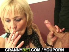 70 years old whore rides big cock