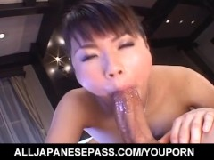 Masami Abe sucks strong dick including in 69