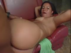 big cock pumps deep inside the arse of latina bitch, great close up