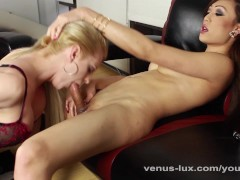 Venus Pounds Tyra's Virgin Asshole