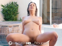 FantasyHD - Ashley Adams takes anal during Spring Break by the pool